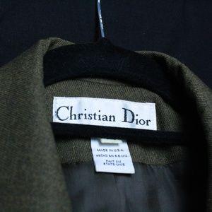 80s Christian Dior Businesswoman Jacket (Olive)